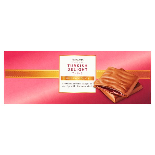 Tesco Turkish Delight Thins Carton 200G