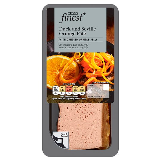 Tesco Finest Duck And Seville Orange Pate 170G