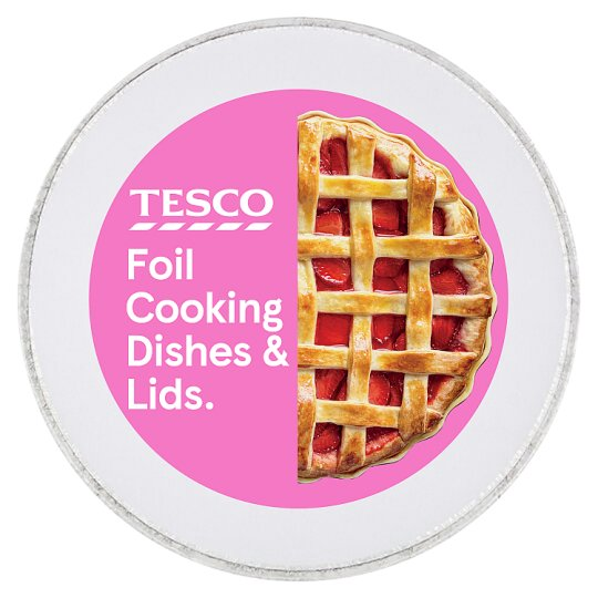 Tesco Oven Foil Round Cooking Dishes 5 Pack