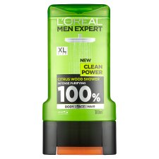 image 1 of L'Oreal Men Expert Clean Power Shower Gel 300Ml