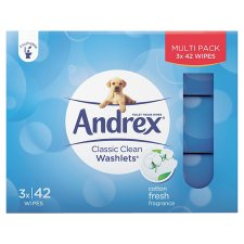 Andrex Classic Clean Washlets 3X42 Pack