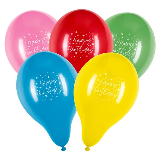 Tesco Happy Birthday Balloons 10 Pack