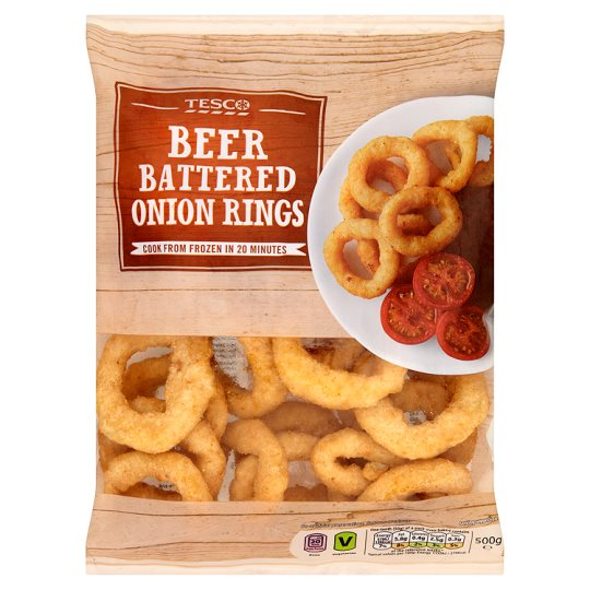 Tesco Beer Battered Onion Rings 500G