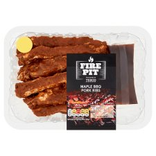 Tesco Bbq Maple Pork Ribs 600G