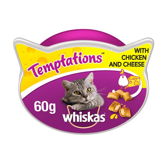 Whiskas Temptations Chicken And Cheese Cat Treats 60G