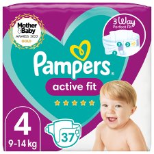 Active Fit Size 4 37 Nappies Essential Pack