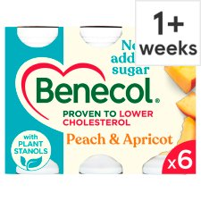 Benecol Peach & Apricot No Added Sugar 6 x 67.5g