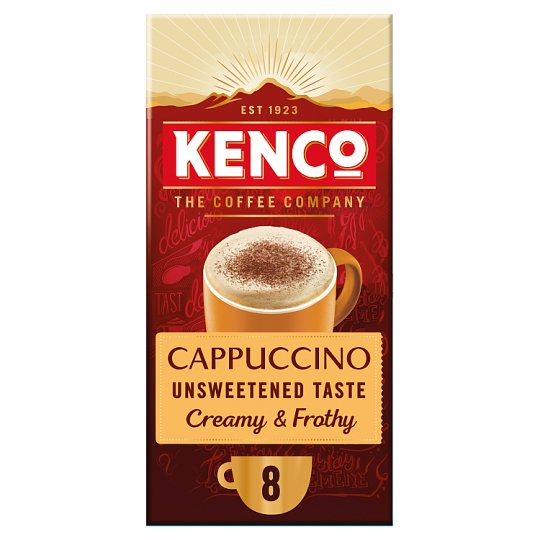 image 1 of Kenco Cappuccino Unsweetened Coffee 8 Sachets 148.8G