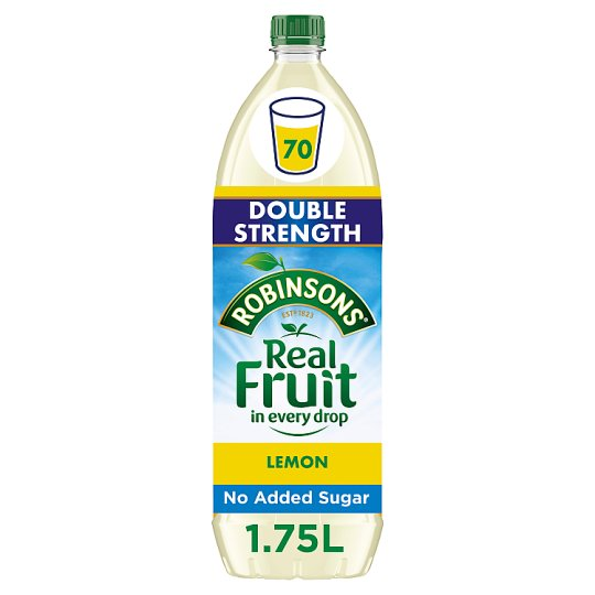 Robinsons Double Concentrate Lemon Squash No Added Sugar 1.75L