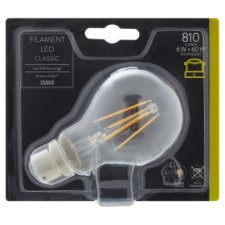 Tesco Led Filament Classic 60W Bayonet Cap