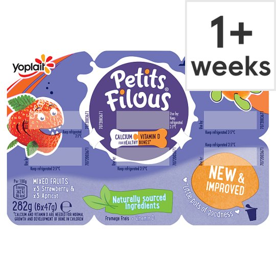 Petits Filous Strawberry And Apricot Fromage Frais 6 X47g