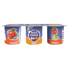 image 2 of Petits Filous Strawberry And Apricot Fromage Frais 6 X47g