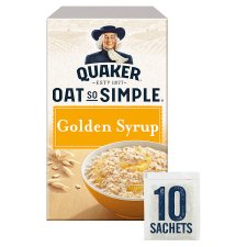 image 1 of Quaker Oat So Simple Golden Syrup Porridge 10 X36g