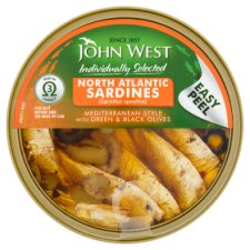 John West North Atlantic Sardine Mediterranean 106G