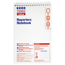 Tesco Basic Reporters Notebook 80Sheet