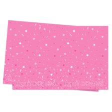 Tesco Pink Happy Birthday Table Cover