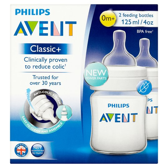 image 1 of Philips Avent Classic+ 4 Oz Bottle 2 Pack