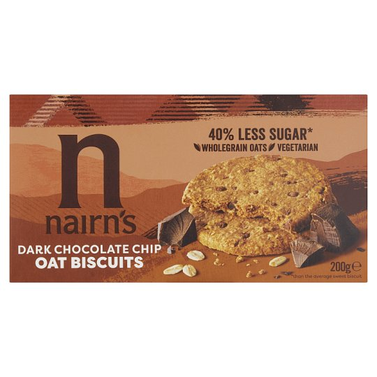 Nairns Dark Chocolate Oat Biscuits 200G