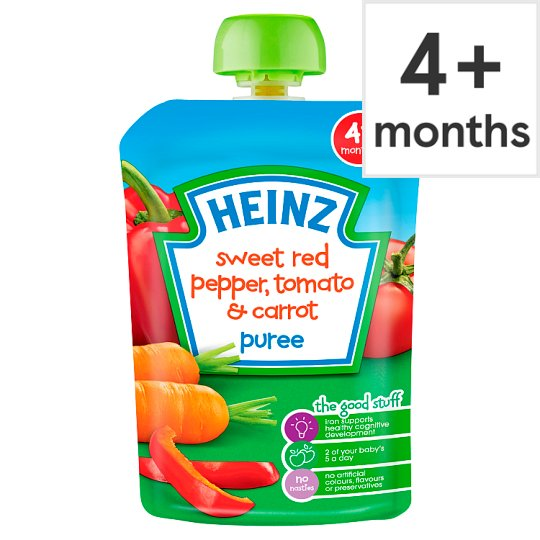 Heinz Savoury Pouch Sweet Red Pepper Tomato And Carrot 100G