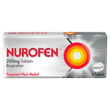 Nurofen Ibuprofen 200Mg Tablets 8S