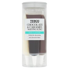 Tesco Choc/ Caramel Writing Icing 76G