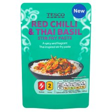 Tesco Thai Red Chilli And Basil Stir Fry Paste 80G