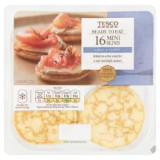 Tesco 16 Mini Blini 133G