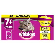 image 1 of Whiskas Cat Food Casserole Jelly Poultry 40X85g