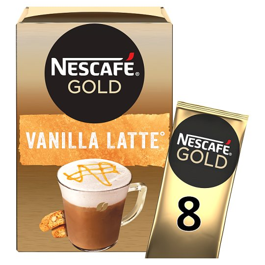 image 1 of Nescafe Gold Vanilla Latte Coffee 8 X 18.5G