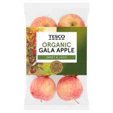 image 1 of Tesco Organic Gala Apples 630G