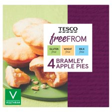 Tesco Free From Bramley Apple Pies 4 Pack