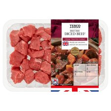 Tesco Diced Beef 600G