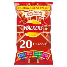 Walkers Classic Variety Crisps 20 X 25G