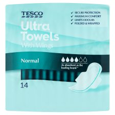 Tesco Ultra Regular Wing Sanitary Towels 14 Pack