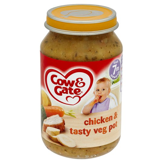 Cow & Gate Chicken And Tasty Vegetable Pot Jar 200G 7 Mth+