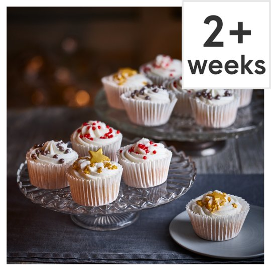 Tesco Christmas Cupcakes, 12 Pieces, Serves 12