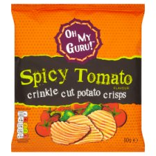 Oh My Guru Spicy Tomato Potato Crisps 80G
