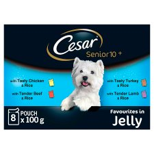 image 1 of Cesar Fresh Jelly Senior Dog Food Pouches 8 X100g