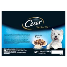 image 2 of Cesar Fresh Jelly Senior Dog Food Pouches 8 X100g