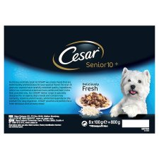 image 4 of Cesar Fresh Jelly Senior Dog Food Pouches 8 X100g