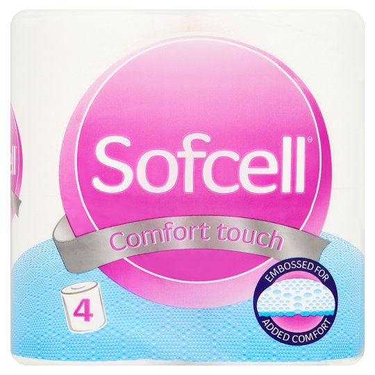 Sofcell Toilet Roll White 4 Pack