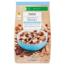 Tesco Swiss Style No Added Sugar Muesli 1Kg
