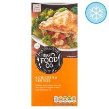 Hearty Food Co 4 Chicken And Vegetable Pies 484G