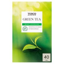 Tesco 40 Green Tea Bags 100G