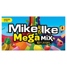Mike And Ike Mega Mix Fruit Candies 10 Flavours 141G