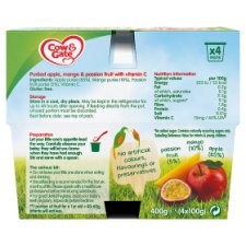 image 2 of Cow & Gate Fruit Cup Apple/ Mango/ Passion Fruit 4 Pack