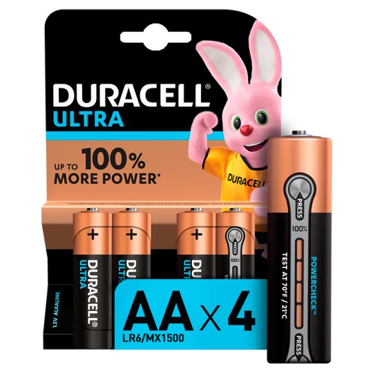 Duracell Ultra Aa 4 Pack