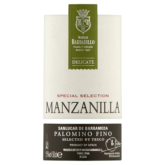 Tesco Finest Manzanilla Sherry 50Cl