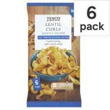 Tesco Lentil Curls 6 Pack 120G