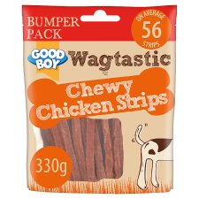 Wagtastic Chewy Chicken Strips Dog Treats 330G